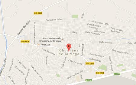 fontaneros en churriana de la vega mapa