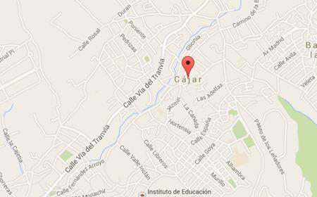 fontaneros en cajar mapa