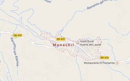fontaneros en monachil mapa